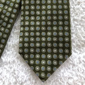 Brooks Brothers Floral Green Blue Neck Tie